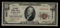 National Bank Notes:Maryland, Oakland, MD - $10 1929 Ty. 1 The Garrett NB Ch. # 6588. ...