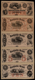 Obsoletes By State:Connecticut, Rockville, CT- Rockville Bank $3; $5; $5; $5; $10 G6; G8; G8; G8; G10 Proofs. ...
