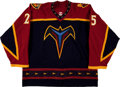 Hockey Collectibles:Uniforms, 2005-06 Andy Sutton Game Worn Atlanta Thrashers Jersey....