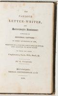 Books:Business & Economics, R. Turner. The Parlour Letter-Writer, and Secretary'sAssistant... Philadelphia: Cowperthwait, 1838. First edition....