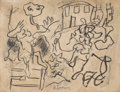 Fine Art - Work on Paper:Drawing, WILLEM DE KOONING (American, 1904-1997). Untitled. Charcoalon paper. 8-1/4 x 10-7/8 inches (21.0 x 27.7 cm). Signed low...