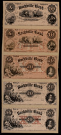 Obsoletes By State:Connecticut, Rockville, CT- Rockville Bank $10; $10; $20; $20; $20 G10; G10; G12; G12; G12 Proofs. ...