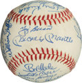 Autographs:Baseballs, 1961 New York Yankees Team Signed Baseball, PSA/DNA NM-MT+ 8.5....