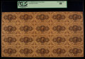 Fr. 1230 5¢ First Issue Uncut Sheet of Twenty PCGS Extremely Fine 40
