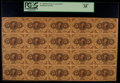 Fractional Currency:First Issue, Fr. 1230 5¢ First Issue Uncut Sheet of Twenty PCGS Very Fine 35.....