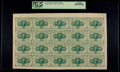 Fractional Currency:First Issue, Fr. 1242 10¢ First Issue Uncut Sheet of Twenty PCGS Gem New 65PPQ.....