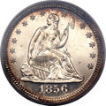 Proof Seated Quarters, 1856 25C PR64 Cameo PCGS....