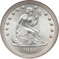 Seated Quarters, 1888 25C MS67 NGC....