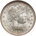 Barber Quarters, 1901-O 25C MS65 NGC....