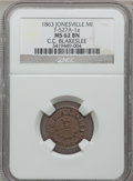 Civil War Merchants, 1863 C.C. Blakeslee, Jonesville, MI, F-527A-1a, R.7, MS62 BrownNGC.. From The Clifton A. Temple Collection....