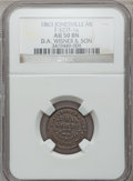 Civil War Merchants, 1863 D.A. Wisner & Son, Jonesville, MI, F-527F-1a, R.6, AU50NGC.. Purchased from James Kelly (12/20/1941) for 35 cents.S...