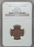 Civil War Merchants, (1861-65) Kellogg & Co., Kalamazoo, MI, F-530E-4a, R.9, MS63Red and Brown NGC.. Purchased from J. Canfield (2/13/1971)fo...