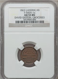 Civil War Merchants, 1863 David Ekstein, Lansing, MI, F-560A-1a, R.6, AU55 NGC..Purchased from James Kelly (7/25/1944) for 25 cents..From...
