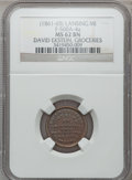 Civil War Merchants, (1861-65) David Ekstein, Lansing, MI, F-560A-4a, R.9, MS62 BrownNGC.. Purchased from James Kelly (12/20/1941) for 50 cent...