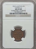 Civil War Merchants, 1863 Fairbank & Scriver, Lawton, MI, F-570A-1a, R.8 MS63 BrownNGC.. Purchased from J. Canfield (2/13/1971) for $15.00....