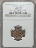 Civil War Merchants, 1863 Hatch & Craw, Lowell, MI, F-580B-3a, R.6, AU58 NGC..From The Clifton A. Temple Collection....