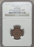 Civil War Merchants, 1863 Hatch & Craw, Lowell, MI, F-580B-4a, R.5, AU58 NGC..From The Clifton A. Temple Collection....
