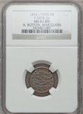 Civil War Merchants, 1864 A. Button, Lyons, MI, F-587B-2a, R.6, MS61 Brown NGC.. FromThe Clifton A. Temple Collection....