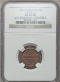 Civil War Merchants, 1863 L.H. Robinson, Marshall, MI, F-610C-3a, R.4, MS65 Brown NGC..From The Clifton A. Temple Collection....