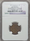 Civil War Merchants, 1863 L.H. Robinson, Marshall, MI, F-610C-5b, R.8 - EnvironmentalDamage - NGC Details. Unc.. Purchased from James Kelly (1...