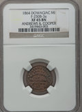 Civil War Merchants, 1864 Andrews & Cooper, Dowagiac, MI, F-250B-3a, R.8 XF45 NGC..From The Clifton A. Temple Collection....