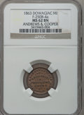 Civil War Merchants, 1863 Andrews & Cooper, Dowagiac, MI, F-250B-4a, R.6, MS62 BrownNGC.. From The Clifton A. Temple Collection....