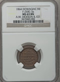 Civil War Merchants, 1864 A.M. Dickson & Co., Dowagiac, MI, F-250C-3a, R.7, MS63Brown NGC.. From The Clifton A. Temple Collection....