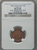 Civil War Merchants, 1863 A.M. Dickson & Co., Dowagiac, MI, F-250C-4a, R.9, MS63Brown NGC.. Purchased from E. Graf (10/26/1974) for$25.00....