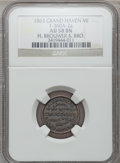 Civil War Merchants, 1863 H. Brouwer, Grand Haven, MI, F-360A-2a, R.8 AU58 NGC..Purchased from B. Gilman (12/3/1937).. From The CliftonA....