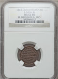 Civil War Merchants, 1863 H. Brouwer, Grand Haven, MI, F-360A-3a, R.6, MS62 Brown NGC..From The Clifton A. Temple Collection....