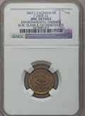 Civil War Merchants, 1863 N.W. Clark & Co., East Saginaw, MI, F-280B-2b, R.8 -Environmental Damage - NGC Details. Unc.. Purchased from JamesK...