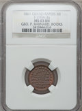 Civil War Merchants, 1861 George P. Barnard, Grand Rapids, MI, F-370A-2a, R.9, MS63Brown NGC.. From The Clifton A. Temple Collection....