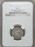 Civil War Merchants, 1861 Foster & Metcalf, Grand Rapids, MI, F-370C-2e, R.8 MS63NGC.. From The Clifton A. Temple Collection....