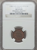 Civil War Merchants, (1861-65) Kruger & Booth, Grand Rapids, MI, F-370E-2a, R.8 MS64Brown NGC.. From The Clifton A. Temple Collection....