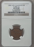 Civil War Merchants, 1861 A. Schmitz, East Saginaw, MI, F-280E-2a, R.9, XF45 NGC..Purchased from H.E. Wilson (9/24/1940) for 11 cents..Fr...