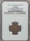 Civil War Merchants, (1861-65) C. Kusterer, Grand Rapids, MI, F-370F-1a, R.4, VF25 NGC..From The Clifton A. Temple Collection....
