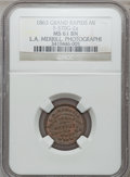 Civil War Merchants, 1863 L.A. Merrill, Grand Rapids, MI, F-370G-2a, R.8 MS61 BrownNGC.. From The Clifton A. Temple Collection....