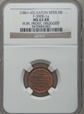 Civil War Merchants, (1861-65) H.M. Frost, Eaton Rapids, MI, F-300B-1a, R.5, MS63 Redand Brown NGC.. Purchased from H.E. Wilson (9/24/1940) fo...