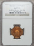 Civil War Merchants, 1862 L.H. Randall, Grand Rapids, MI, F-370J-1a, R.8 MS64 Red andBrown NGC.. Purchased from J. Barnet (11/12/1942) for 25 ...