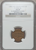Civil War Merchants, (1861-65) A. Roberts & Son, Grand Rapids, MI, F-370K-3b, R.8AU58 NGC.. From The Clifton A. Temple Collection....