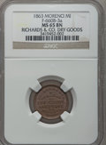 Civil War Merchants, 1863 Richards & Co., Morenci, MI, F-660B-3a, R.8 MS65 BrownNGC.. Purchased from George Fuld (9/17/1958) for $2.50..F...
