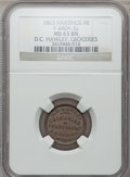 Civil War Merchants, 1863 D.C. Hawley, Hastings, MI, F-440A-5a, R.9, MS63 Brown NGC..From The Clifton A. Temple Collection....