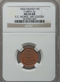 Civil War Merchants, 1864 E.C. Morse, Mussey, MI, F-680A-3a, R.9, MS64 Red and BrownNGC.. From The Clifton A. Temple Collection....