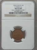 Civil War Merchants, 1863 G.A. Colby & Co., Niles, MI, F-700A-1a, R.5, MS63 BrownNGC.. From The Clifton A. Temple Collection....