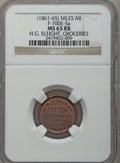 Civil War Merchants, (1861-65) H.G. Sleight, Niles, MI, F-700E-5a, R.9, MS65 Red andBrown NGC.. From The Clifton A. Temple Collection....