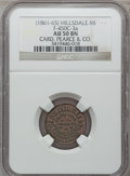 Civil War Merchants, (1861-65) Card Pearce & Co., Hillsdale, MI, F-450C-3a, R.7,AU50 NGC.. Purchased from H. Bowen (12/3/1944) for 25cents....