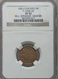 Civil War Merchants, 1863 M.L. Stewart, Owosso, MI, F-735B-2b, R.8 XF45 NGC.. FromThe Clifton A. Temple Collection....