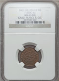Civil War Merchants, 1863 Card Pearce & Co., Hillsdale, MI, F-450C-4a, R.9, MS63Brown NGC.. Purchased from H.E. Wilson (9/24/1940) for 11cent...