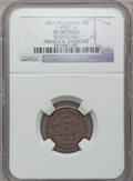Civil War Merchants, 1861 French & Parsons, Hillsdale, MI, F-450E-1a, R.7 -Scratches - NGC Details. XF.. Purchased from J. Canfield(10/26/197...