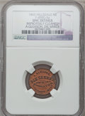 Civil War Merchants, 1863 A. Gleason, Hillsdale, MI, F-450G-5a, R.6 - Improperly Cleaned- NGC Details. Unc.. From The Clifton A. Temple Collec...